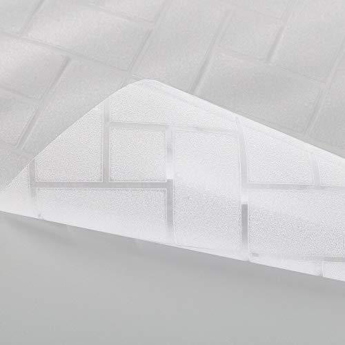 Película autoadhesiva de Vidrio de celosía esmerilada de adsorción electrostática, película de Ventana Impermeable de privacidad, Utilizada en hogares, oficinas D 60x100cm