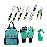 Juego de herramientas de jardín, regalos de jardinería para hombres y mujeres, herramientas de jardinería, regalos de kit de jardinería con herramienta manual de aluminio resistente