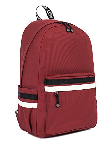 Leaper Laptop Backpack Girls Travel Bag School Backpack Daypack 15.6-Inch Red