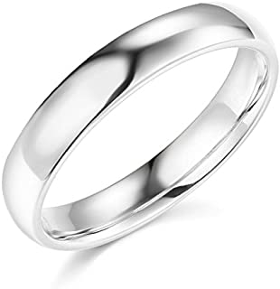 14k Yellow OR White Gold 4mm SOLID Plain Wedding Band