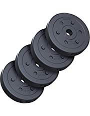 ScSPORTS Halterschijven set 10 kg, Kunststof, 30 mm, 4 x 2,5 kg, Gewichten, Fitness