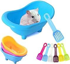 وان حمام همستر MUMAX ، ظروف پلاستیکی حمام با شن و ماسه حمام مجموعه برای حیوانات خانگی کوچک Chinchilla Animal خرس طلایی خرس سیاه و سفید همستر خرس سیاه Gerbil Mouse