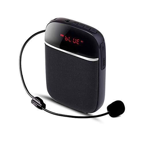 WFLJ Draagbare Draadloze Waist-Band PA Speaker Systeem - Compacte Voice Amplifier en Headset Microfoon Set met Ingebouwde Oplaadbare Batterij, MP3/USB/TF Card Playback, AUX, Bandje, Riem Clip
