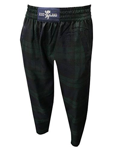 Black Watch Tartan décontracté/Pantalon de golf - Noir - Large
