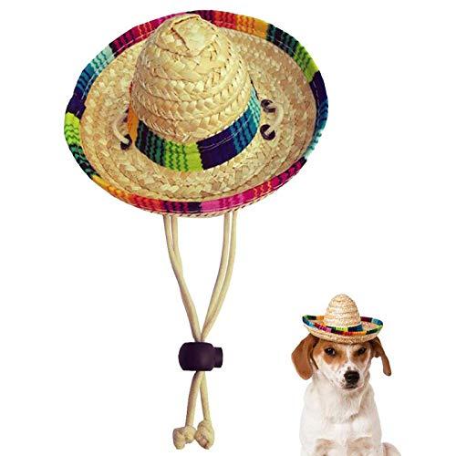 Kitatayi Dog Sombrero Hat for Small Pets