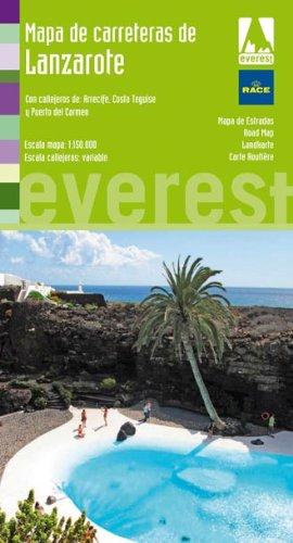 Mapa de carreteras de Lanzarote: Con callejeros de: Arrecife, Costa Teguise y Puerto del Carmen (Mapas provinciales / serie verde)