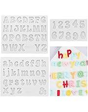 CALISTOUK 3 piezas Moldes de Silicona con Letras del Alfabeto Pequeñas, Mini Molde de Resina Epoxi para Hacer Bricolaje