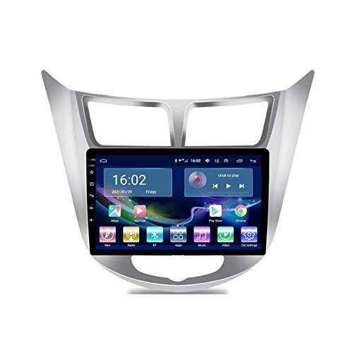 Navegación de coche, Pantalla táctil IPS de 9 pulgadas Android 10 para Hyundai accent Verna 2012-2017, Radio de coche Multimedia Navegación GPS Navi Player Auto,4g+wifi 1g+32g