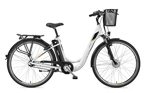 Telefunken E-Bike Damen 28 Zoll Elektrofahrrad - 7-Gang Shimano Nabenschaltung mit Rücktritt, Pedelec Citybike Alu mit Fahrradkorb, Frontmotor 250W /10,4Ah / 36V Sitzrohrakku, RC840 Multitalent