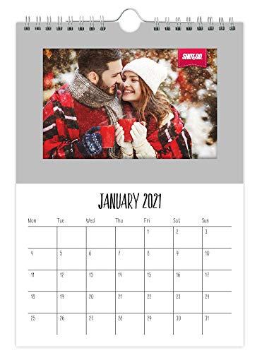 Shot2go 2021 Calendario colgante con fotos plateado - Capacidad para 12 fotos de 4 x 6'