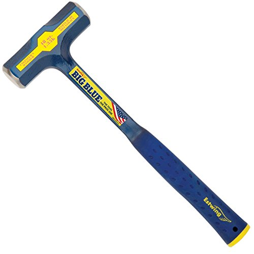 Estwing BIG BLUE Engineer's Hammer - 48 oz  Sledge with Forged Steel Construction & Shock Reduction Grip - E6-48E