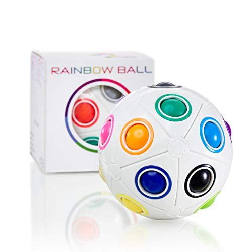 CUBIDI Grande Pelota Mágica Arco Iris – Big Magic Rainbow Ball - Pelota Antiestres -Stress Ball Fidget Toy - Juguetes Sensoriales para Anti Estrés - Regalos para Niños y Adultos