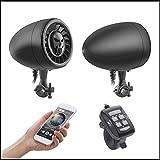 Motorrad Harley wasserdichte Multi-Funktions-Bluetooth-Audio, Subwoofer Hochleistungs-5-Zoll-Motorrad-Lautsprecher wasserdichte ATV/UTV/Harley Musik Audio Sound System-Player AUX MP3