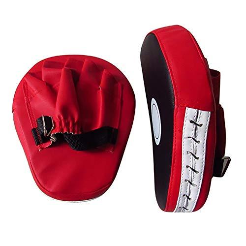 Ofgcfbvxd Boxhandschuhe Offene Finger-Design Atmungsaktive Fokus-Mitts Leder-Boxkissen für Focus Training Kickboxing. Geeignet für Kinder und Männer (Color : Red, Size : 26x20x5cm)