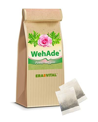 Tee I 60 Teebeutel = 120g I WehAde® Power-Aufguss Papaya-Blätter gemahlene Chaga-Naturbrocken Schisandra Sinensis Beere schwarze Goji Beere.