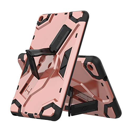 HH-Tablet Case,For Samsung Galaxy Tab A 8.0 & S Pen (2019) P200/P205 Escort Series TPU + PC Shockproof Protective Case with Holder hangma (Color : Rose Gold)