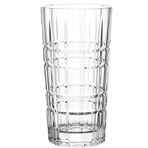 Leonardo Spiritii Trink-Gläser, 4er Set, 400 ml, spülmaschinenfeste Wasser-Gläser, Saft-Gläser mit Schliff, stoßfestes Gläser-Set, 022760