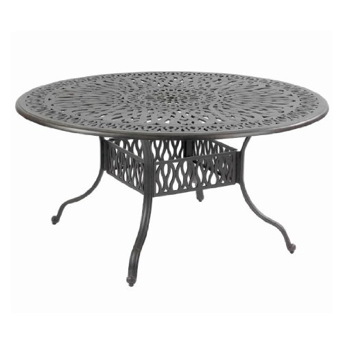 Hartman Amalfi Tisch, Bronze aus Alu-Guss, antik, Ø120cm, Terrassentisch Garten-Tisch, Alutisch Balkon Terrasse jugendstil