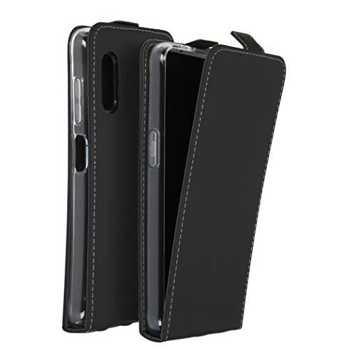 Accezz kompatibel mit Samsung Galaxy Xcover Pro Hülle – Flip Hülle Tasche – Handytasche zum Aufklappen in Schwarz [1 Kartenfach, Magnetverschluss, Premium Kunstleder]