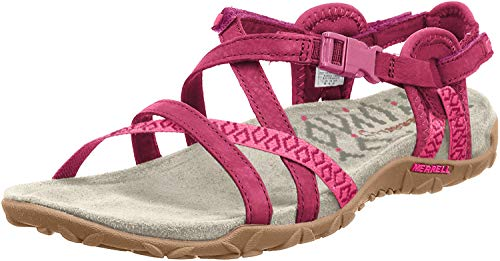 Merrell TERRAN LATTICE II, Damen Sandalen, Violett (FUCHSIA), 38 EU (5 UK)