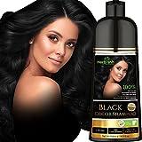 Herbishh Hair Color Shampoo for Gray Hair – Natural Hair Dye Shampoo – Colors Hair in Minutes–Long Lasting–500 Ml–3-In-1 Hair Color–Ammonia-Free | Herbishh (Black)