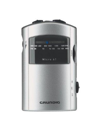 Grundig Micro 61 Kompaktes Radio im Taschenformat silber/grau