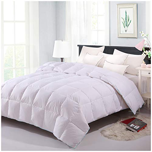 Homelike Moment Down Comforter Twin Lightweight Down Duvet Insert White Down Comforter 100% Cotton Shell Downproof with Corner Tab Twin Size
