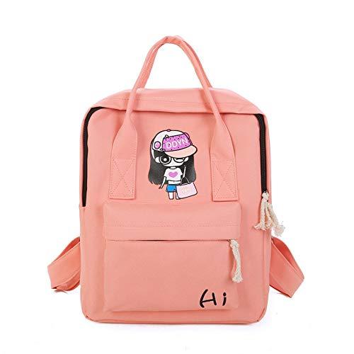 Mode Oxford kleines Mädchen Rucksack Freizeit Student Tasche Pink