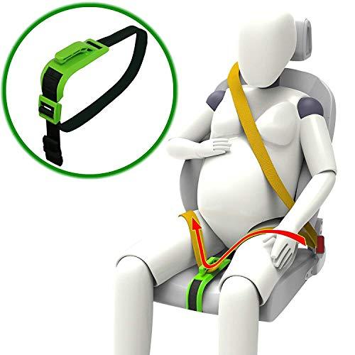 ZUWIT Schwangerschaftsgurt, Komfort für Schwangere, Bauch, ungeborenes Baby schützen, ein Muss für werdende Mütter (Grün)