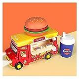 Decoración del hogar Simulación para niños Coche de helado Música Coche de comida rápida Chica Aleación Traje de coche de juguete Varios tipos de Coche Coche de niño de más de 3 años Pasatiempos pa