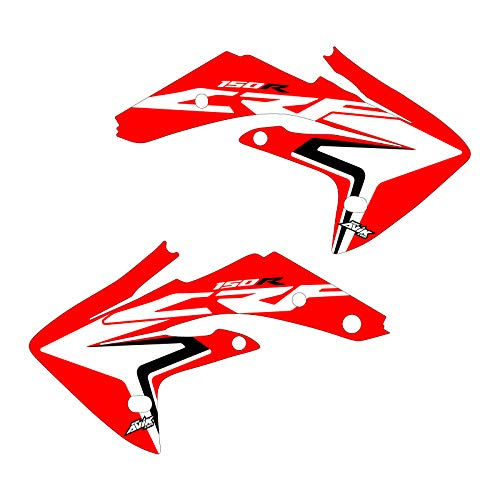 CRF150R graphics 2007-2021 stock replica updated shrouds red