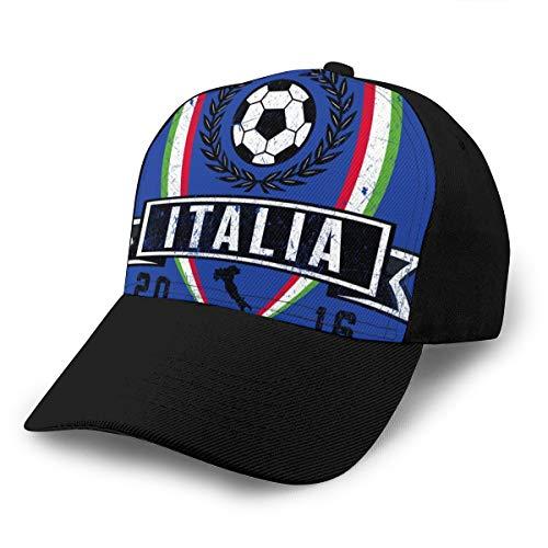 HONGYANW Baseball Cap Euro 2016 Fußball Italien Italia Schild Blau Dad Hat Verstellbar Atmungsaktiv für Herren Damen Snapback Trucker Cap