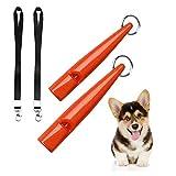 ICOUVA Dog Whistle [2 Pack], Professional Ultrasonic Dog Training Whistle With Lanyard Neck Strap Training...