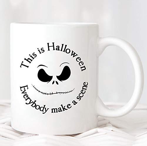 Dit is Halloween iedereen maken een scène MugHalloween kostuum MugHappy HalloweenHalloween partyHalloween geschenken MugMUG830