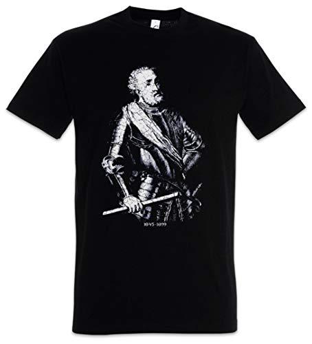 Urban Backwoods El CID Hombre T-Shirt Negro Talla 2XL