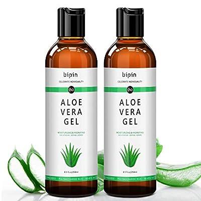 Aloe Vera Gel - Natural & Organic Aloe Vera Plant for After Sun care, Pure Aloe Vera Gel for Hydrating, Moisturizing Skin (2 Pack of 17 fl.oz)