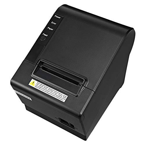 SODIAL Impresora Peque?A Pos 200Mm / S 80Mm Impresora TéRmica de Recibos con Puerto USB LAN Ethernet Cortador AutomáTico Bill Enchufe de la UE