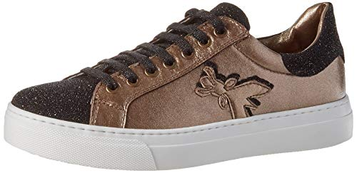 Patrizia Pepe PPJ504 Sneaker, Black + Bronze, 37/37.5 EU