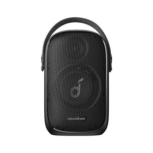 Soundcore Trance Go Altavoz Bluetooth para Exteriores con tecnología BassUp, sincronización de más de 100 Altavoces, 24 Horas de reproducción, Resistencia al Agua, EQ Personalizado y aplicación