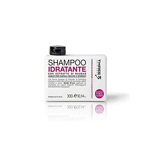 faipa Three 3 – Shampooing hydratant extrait de Baobab cheveux secchi no Paraben 300 ml
