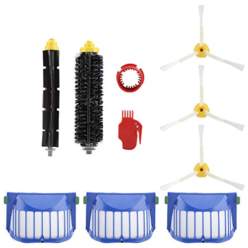 3-Armed Side Brush Bristle Brush Filter Flexible Beater Cepillos Aspirador Accesorios Kit para Irobot Roomba 600 610 620 625 630 650 Series