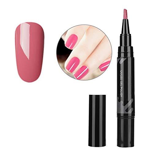 Lápiz de esmalte de uñas de gel de 5 ml, Pincel de lápiz de esmalte de uñas, Esmalte de uñas profesional de esmalte de uñas de gel para Starter/Nail Extension/DIY Art/Technician(8044)