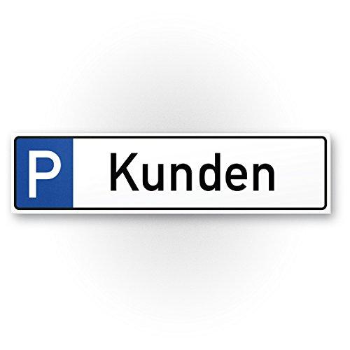 Parkplatz Kunden Kunststoff Schild - Kundenparkplatz (40 x 10cm), Hinweisschild Privatparkplatz - nur Kunden, Parkplatzschild Reserviert - Parkplatz freihalten |Stellplatz Kundschaft