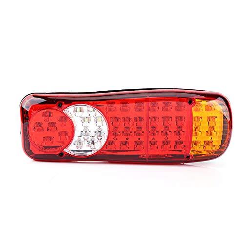 Feux arrières de voiture, 2 Pcs 12V 46 LED Feux arrières de clignotant indicateur inversé de frein arrière feu stop indicateur de clignotant pour voiture camion van
