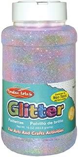 rainbow silver glitter