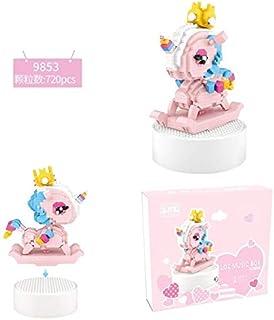 LOZ Stereo Music Box Mini Building Blocks Unicorn Assembled Toys Puzzle Girl Friend Gift (9853)
