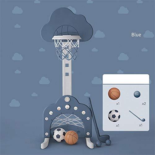 XINGLIAN 3 In 1 Funktion Basketballkorb for 3 Jahre Alt Und Up-Kleinkind-Baby-Sport-Basketball-Ständer Höhenverstellbar 70-149cm (Color : Blue)