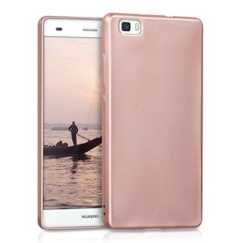 kwmobile Hülle kompatibel mit Huawei P8 Lite (2015) - Handy Case Metallic Rosegold