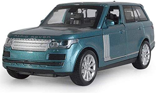 Automodell 01.32 Range Rover-Metall-Legierung Auto Gießt druck Fahrzeuge Auto-Modell ature Skala Modell Auto for Kinder jszzz (Color : Blue)