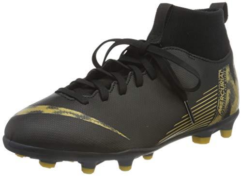 Nike Youth Soccer Superfly 6 Club Multi Ground Cleats (3.5 Big Kid, Black/Metallic Vivid Gold)